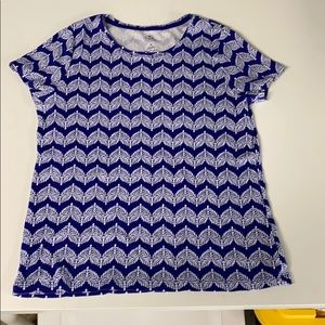 Patterned cotton tee
